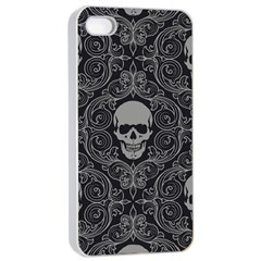 Dark Horror Skulls Pattern Apple Iphone 4/4s Seamless Case (white) by BangZart