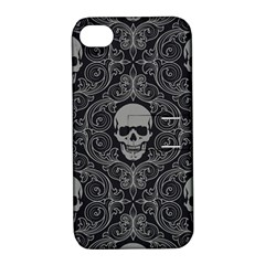 Dark Horror Skulls Pattern Apple Iphone 4/4s Hardshell Case With Stand by BangZart