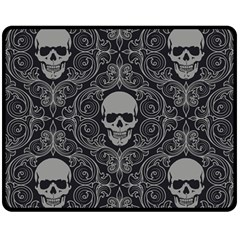 Dark Horror Skulls Pattern Double Sided Fleece Blanket (medium)
