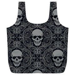 Dark Horror Skulls Pattern Full Print Recycle Bags (l)