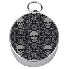 Dark Horror Skulls Pattern Silver Compasses by BangZart