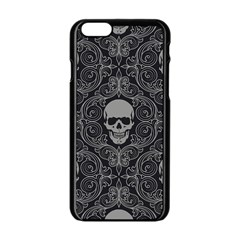 Dark Horror Skulls Pattern Apple Iphone 6/6s Black Enamel Case