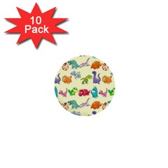 Group Of Funny Dinosaurs Graphic 1  Mini Buttons (10 Pack)  by BangZart