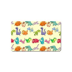 Group Of Funny Dinosaurs Graphic Magnet (name Card)