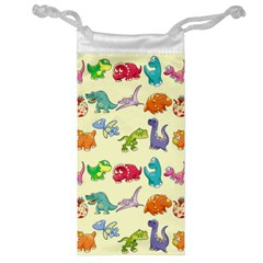 Group Of Funny Dinosaurs Graphic Jewelry Bag