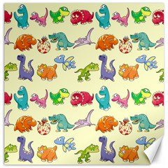Group Of Funny Dinosaurs Graphic Canvas 12  X 12   by BangZart