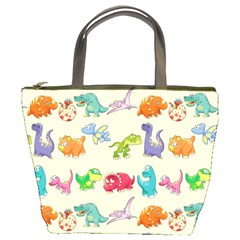 Group Of Funny Dinosaurs Graphic Bucket Bags by BangZart