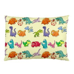 Group Of Funny Dinosaurs Graphic Pillow Case (two Sides)