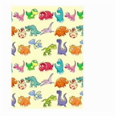 Group Of Funny Dinosaurs Graphic Large Garden Flag (two Sides)