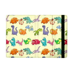 Group Of Funny Dinosaurs Graphic Apple Ipad Mini Flip Case by BangZart