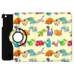 Group Of Funny Dinosaurs Graphic Apple Ipad Mini Flip 360 Case by BangZart