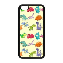 Group Of Funny Dinosaurs Graphic Apple Iphone 5c Seamless Case (black) by BangZart