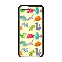 Group Of Funny Dinosaurs Graphic Apple Iphone 6/6s Black Enamel Case