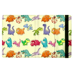 Group Of Funny Dinosaurs Graphic Apple Ipad Pro 12 9   Flip Case by BangZart