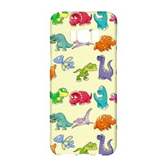 Group Of Funny Dinosaurs Graphic Samsung Galaxy S8 Hardshell Case