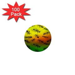 Insect Pattern 1  Mini Buttons (100 Pack)