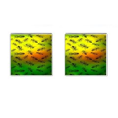 Insect Pattern Cufflinks (square) by BangZart