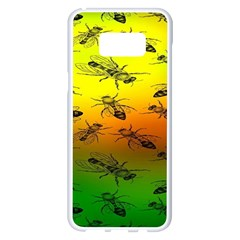 Insect Pattern Samsung Galaxy S8 Plus White Seamless Case by BangZart