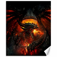 Dragon Legend Art Fire Digital Fantasy Canvas 16  X 20