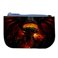 Dragon Legend Art Fire Digital Fantasy Large Coin Purse by BangZart