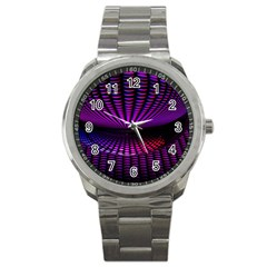 Glass Ball Texture Abstract Sport Metal Watch by BangZart