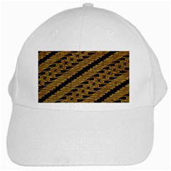 Traditional Art Indonesian Batik White Cap by BangZart