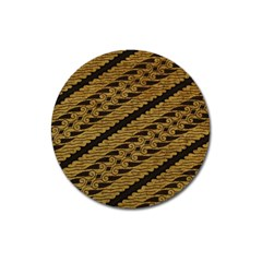 Traditional Art Indonesian Batik Magnet 3  (round)