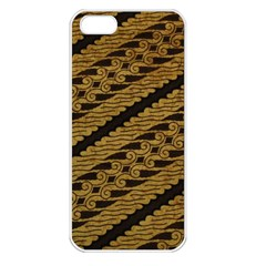 Traditional Art Indonesian Batik Apple Iphone 5 Seamless Case (white) by BangZart