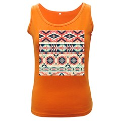 Aztec Pattern Women s Dark Tank Top