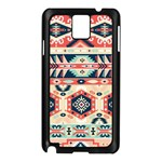 Aztec Pattern Samsung Galaxy Note 3 N9005 Case (Black) Front