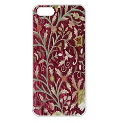 Crewel Fabric Tree Of Life Maroon Apple Iphone 5 Seamless Case (white)