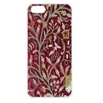 Crewel Fabric Tree Of Life Maroon Apple iPhone 5 Seamless Case (White) Front