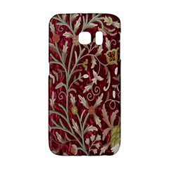 Crewel Fabric Tree Of Life Maroon Galaxy S6 Edge by BangZart