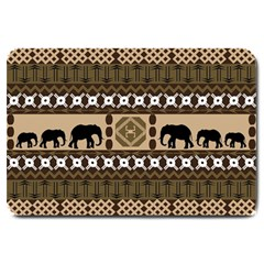 Elephant African Vector Pattern Large Doormat  by BangZart