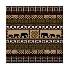 Elephant African Vector Pattern Face Towel by BangZart