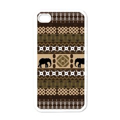 Elephant African Vector Pattern Apple Iphone 4 Case (white)