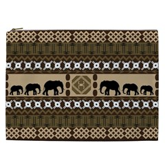 Elephant African Vector Pattern Cosmetic Bag (xxl)  by BangZart