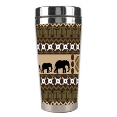 Elephant African Vector Pattern Stainless Steel Travel Tumblers by BangZart