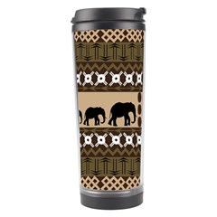 Elephant African Vector Pattern Travel Tumbler