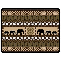 Elephant African Vector Pattern Double Sided Fleece Blanket (large)  by BangZart