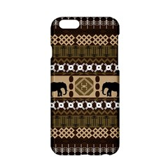 Elephant African Vector Pattern Apple Iphone 6/6s Hardshell Case by BangZart
