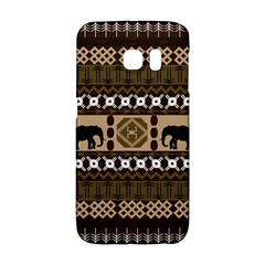 Elephant African Vector Pattern Galaxy S6 Edge by BangZart