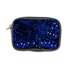 Blue Circuit Technology Image Coin Purse