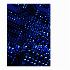 Blue Circuit Technology Image Small Garden Flag (two Sides) by BangZart