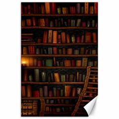 Books Library Canvas 24  X 36  by BangZart