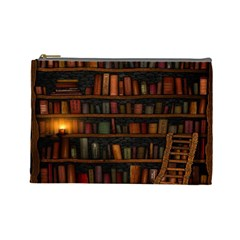 Books Library Cosmetic Bag (large)
