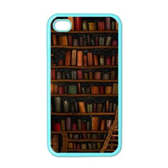 Books Library Apple Iphone 4 Case (color) by BangZart