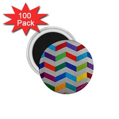 Charming Chevrons Quilt 1 75  Magnets (100 Pack)