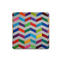 Charming Chevrons Quilt Square Magnet by BangZart