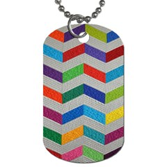Charming Chevrons Quilt Dog Tag (one Side)